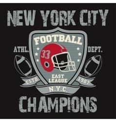 New York Sport Typography Football Logo vector image vector image