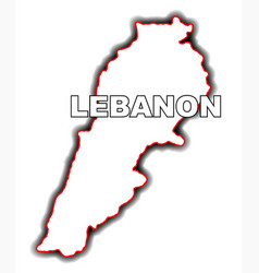 outline map of lebanon vector image vector image