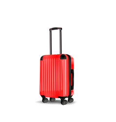 red cabin luggage mock up vector image
