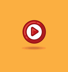 round play button start vector image