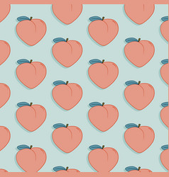 tasty fruit pattern with peach exotic vector image vector image