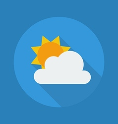 Weather Flat Icon Partly Cloudy vector image vector image