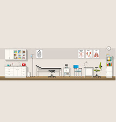 A doctor office panorama vector