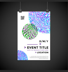 abstract background poster design vector image