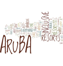 Aruba resorts text background word cloud concept vector