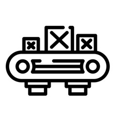 Assembly wood box line icon outline style vector