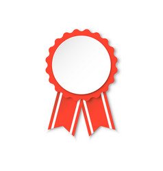 award ribbon icon medal badge on white isolated vector image