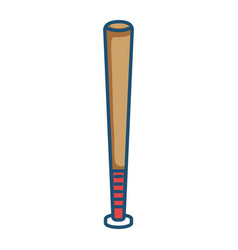 baseball bat equipment isolated icon vector image