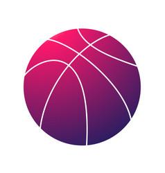 basketball pink symbol vector image