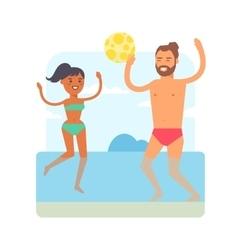 Beach games vector image