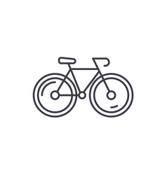 bicycle line icon concept bicycle linear vector image