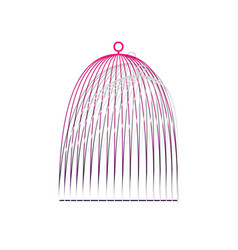 Bird cage sign detachable paper with vector