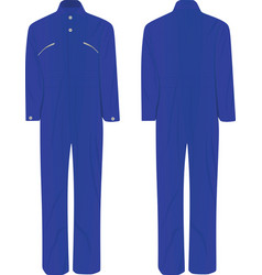 Blue working suit vector