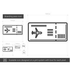 Boarding pass line icon vector