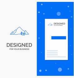 Business logo for mountain landscape hill nature vector