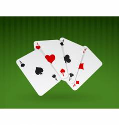 cards on green background vector image