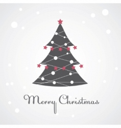 Christmas tree illustration vector image