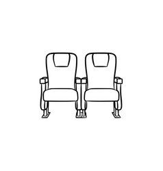 cinema seat hand drawn sketch icon vector image