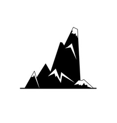 cliff with ledges silhouette icon in flat style vector image