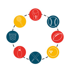 Color diferents sport games icon vector