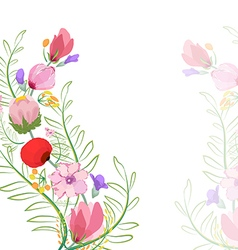 Color of flowers in watercolor paintings vector image