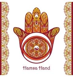 Colored Hamsa Hand vector image