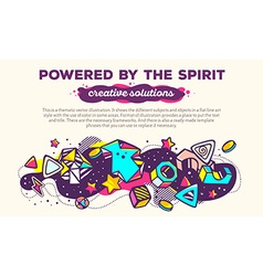 Colorful abstract composition with header vector