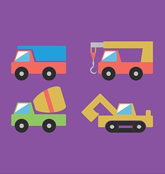 Construction cars set vector image