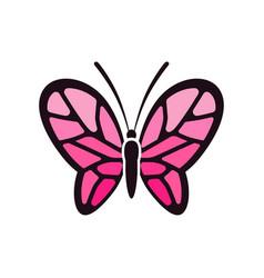 creative feminine pink butterflies images vector image
