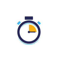 Creative stopwatch icon fast time vector