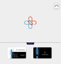 Cross medical pharmacy logo design template get vector