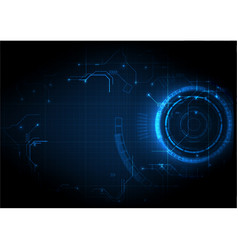 dark blue futuristic game circuit technology vector image