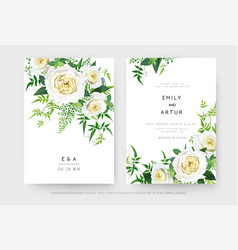 delicate floral editable wedding invite save date vector image