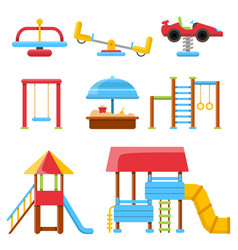 equipment for children playground flat vector image