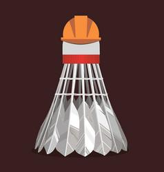 experienced badminton shuttlecock vector image