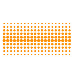 Filled hexagon shape halftone effect vector
