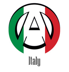flag of italy of the world in the form of a sign vector image