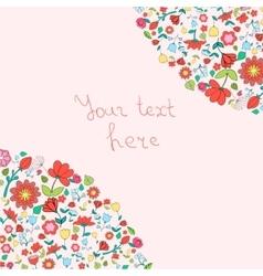 Flowers text placeholder corner vector