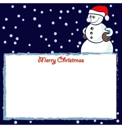 Frame with snowmen vector