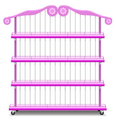 Girlish Shelves vector image