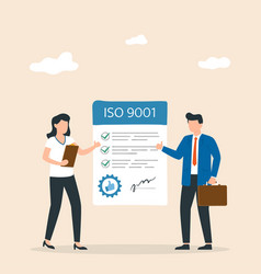 Good manufacturing practice iso 9001 certificate vector
