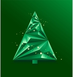 Green abstract Christmas Tree vector image
