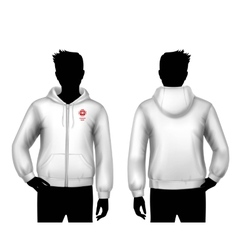 Hooded Sweatshirt Template vector