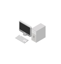 isolated desktop pc isometric computer vector image