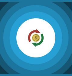 isolated exchange flat icon interchange vector image