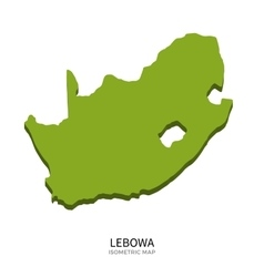 Isometric map of Lebowa detailed vector image