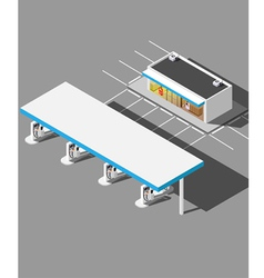Isometric modern Gas Station vector image