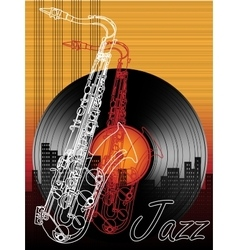 Jazz music festival poster background template vector