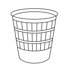 line art black and white trash can vector image