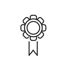 line award badge icon vector image